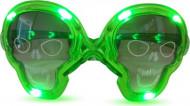 Lunettes lumineuses vertes tête de mort