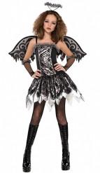 Déguisement ange déchu adolescente Halloween