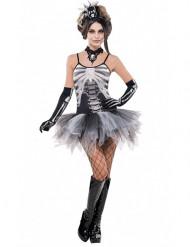 Déguisement squelette sexy gris femme Halloween