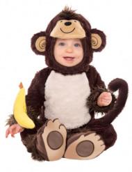 Déguisement singe avec hochet banane enfant