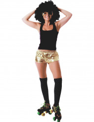 Shorty disco doré brillant femme
