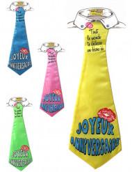 Cravate humoristique Joyeux Anniversaire