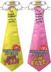 Cravate humoristique enterrement de vie de jeune fille