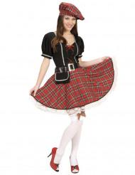 Déguisement écossaise carreaux rouge femme