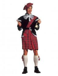 Déguisement écossais rouge et noir homme