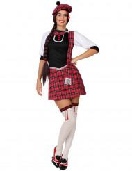 Déguisement écossaise rouge femme