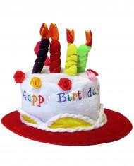 Chapeau happy birthday rouge adulte