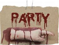 Décoration main gauche ensanglantée Party