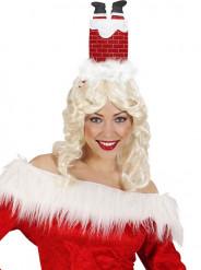 Chapeau humoristique cheminée adulte Noël