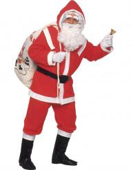 Déguisement Père Noël avec sourcils et barbe luxe homme
