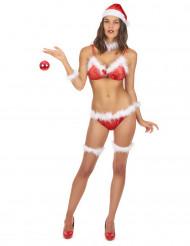 Déguisement bikini Mère Noël femme