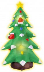 Décoration sapin gonflable et lumineux Noël