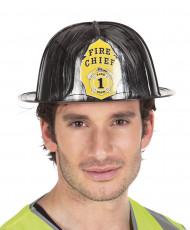 Casque de pompier noir