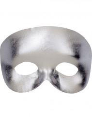 Demi-masque argent adulte