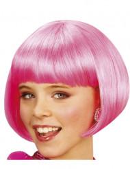 Perruque courte cabaret rose fille