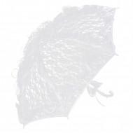 Ombrelle en dentelle blanche 85 cm