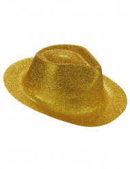 Chapeau pailleté or adulte