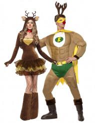 Déguisement de couple renne humoristique