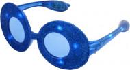 Lunettes Ovales à paillettes bleue