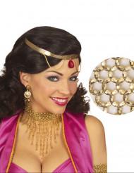Collier ras du cou perles dorées femme
