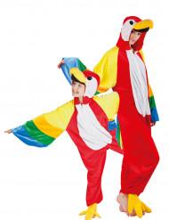 Déguisement de couple perroquet père et fils
