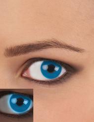 Lentilles fantaisie UV bleu adulte