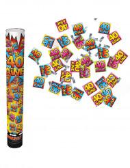 Canon confettis anniversaire 40 ans