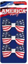 Pack 3 barrettes américa