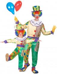 Déguisement de couple clown père et fils