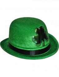 Chapeau melon trèfle vert Saint Patrick