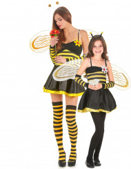 Déguisement de couple abeille fleurie mère et fille