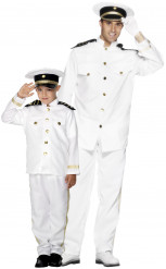 Déguisement de couple capitaine marin père et fils
