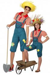 Déguisement de couple fermière mère et fille