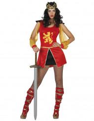 Déguisement chevalier rouge sexy femme