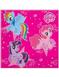 20 Serviettes en papier Rose Mon petit poney™ 33 x 33 cm