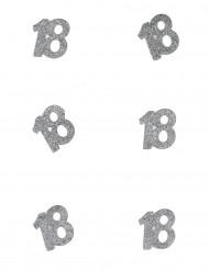 6 Confettis anniversaire 18 ans 4,5 x 5 cm
