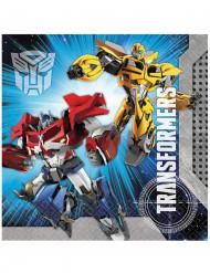 20 Serviettes en papier Transformers™ 33 x 33 cm