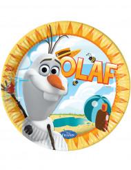 8 Assiettes carton Olaf™ 23 cm