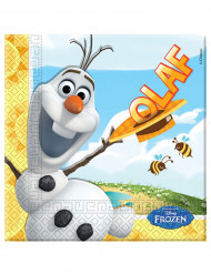 20 Serviettes en papier Olaf™ 33 x 33 cm