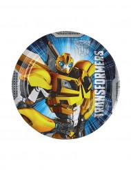 8 Petites assiettes Transformers™ 18 cm