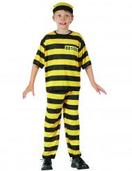 Déguisement prisonnier jaune garçon