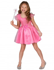 Déguisement princesse paillettes roses fille