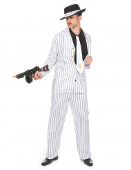 Déguisement gangster blanc rayé homme