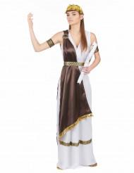 Déguisement satiné romaine femme
