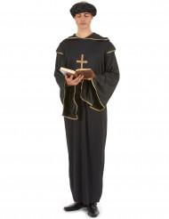 Déguisement moine noir et doré homme