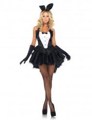 Déguisement lapin noir et blanc sexy femme