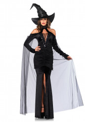 Déguisement sorcière sexy avec chapeau femme