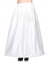 Jupon blanc long à cerceau femme