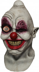 Masque intégral animé adulte clown à l'œil fou