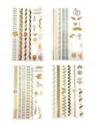 Tatouages éphémères or et argent
